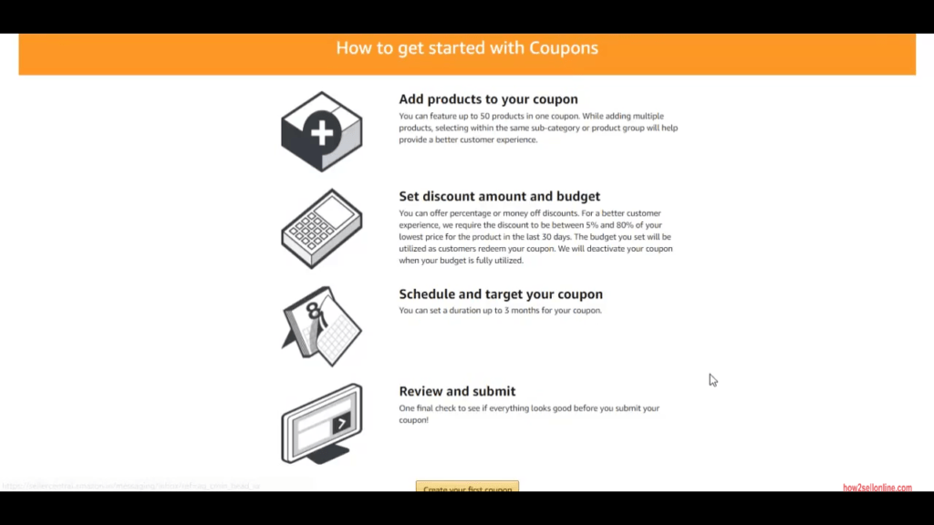 How to create amazon coupons