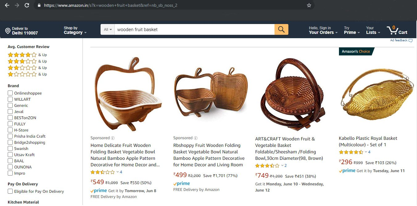 amazon-product-search-result-page