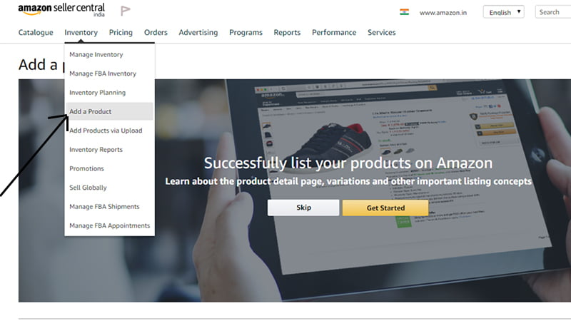 how to add products to amazon seller central